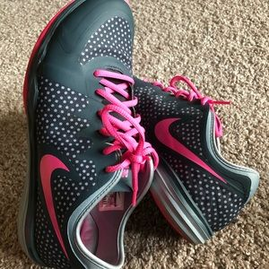 Adorable Pink & Gray Shoes, Sz 8